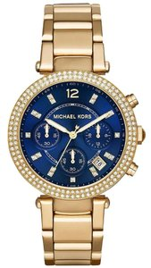 Michael Kors NWT MICHAEL KORS Parker Multi-Function Blue dial Watch