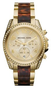 Michael Kors BRAND NEW Blair Gold Tone And Tortoise Chronograph Watch
