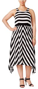 Black & White Striped Maxi Dress by INC International Concepts