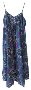 Nicole Miller short dress Purple Asymmetrical Empire Waist Paisley on Tradesy