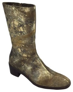 Dries van Noten gold Boots