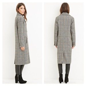 Forever 21 Duster 21 Plaid Pea Coat