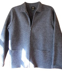 Eileen Fisher Wool Heather Blue Jacket