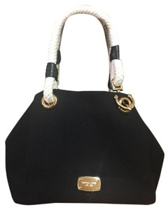 Michael Kors Tote in Black,White/ Gold Hardware