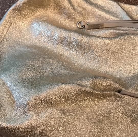 Gianni Chiarini Tote in Light Beige and Gold reversible