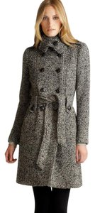 Calvin Klein Ck Military Knit Collar Pea Coat