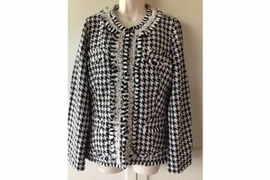 TravelSmith Houndstooth Black/White Houndstooth Blazer