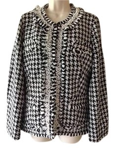 TravelSmith Black/White Houndstooth Blazer