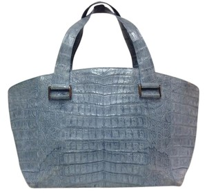 Nancy Gonzalez Genuine Crocodile Tote in Blue