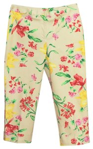 Rafaella Cuffed Capris Multi Color Floral