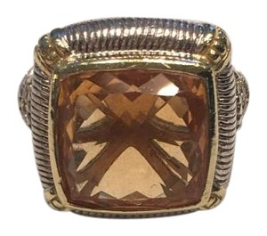 Judith Ripka Judith Ripka Sterling Silver, Citrine and Diamond ring