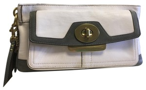 Coach Wristlet in White And Gray