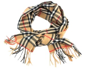 Burberry #9022 Check pattern 100% lambswool scarf