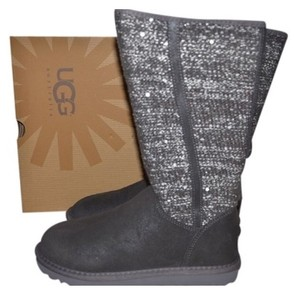 UGG Australia Gray Sweater Sequin Silver and grey Boots
