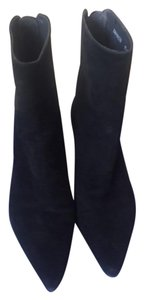 Stuart Weitzman Suede Wedge Comfortable Black Boots