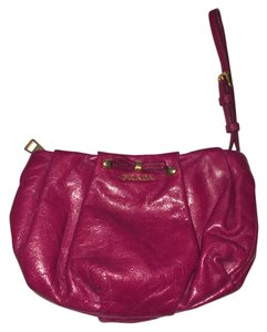 Prada Leather Wristlet in pink