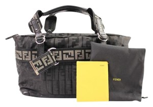 Fendi Two-tone Bicolor Ff Monogram Satchel