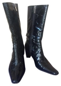 Aquatalia by Marvin K. Italy Pointed Toe Comfortable Winter Black shiny Boots
