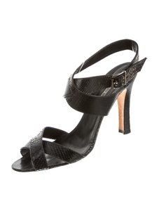 Manolo Blahnik Snakeskin Black Sandals