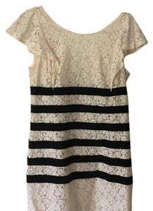 BCBGMAXAZRIA short dress White with black contrast on Tradesy