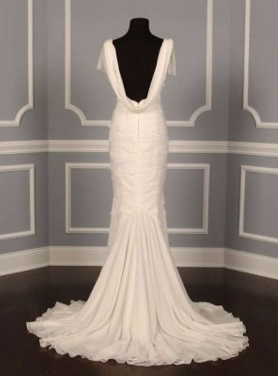 Peter Langner Light Ivory Silk Georgette Layers Of Trust Formal Wedding Dress Size 2 (XS)
