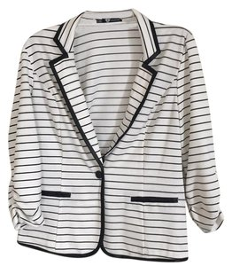Maurices Black and white Blazer