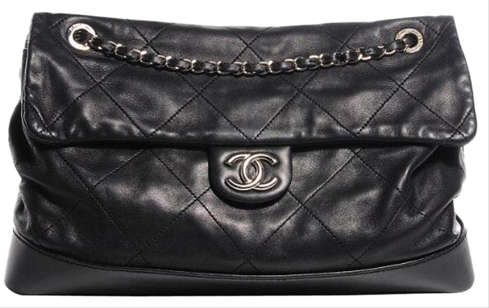 b9c9f4f31ed4 Chanel Classic Flap Vip In Quilted Lambskin Black Leather Tote - Tradesy