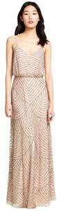 Adrianna Papell Beaded Vintage Art Deco Dress