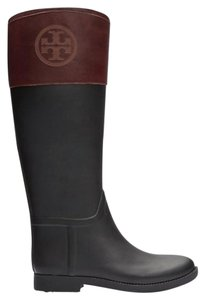 Tory Burch Rain Boot Black and Almond Boots