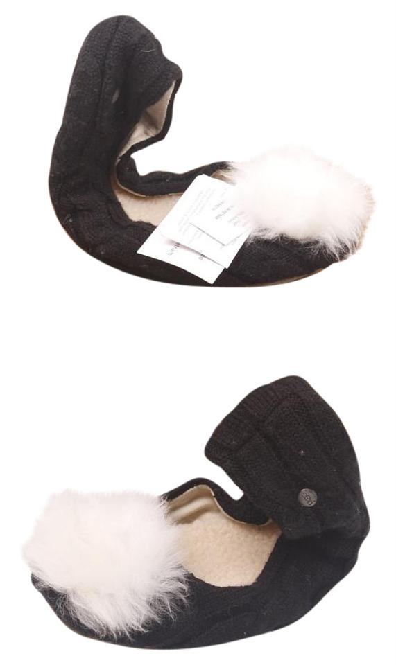 c0c8a580dc0b UGG Australia Slippers Pom Pom Slippers Sherpa Lined Shearling Lined Cozy Slippers  Black Flats Image 0 ...