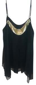 Express Top black with gold sequin
