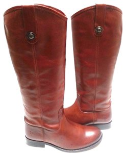Frye Vintage Leather Knee-high Buttons Distinguish True To Size Cognac Boots