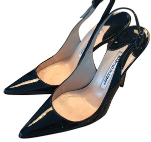 Manolo Blahnik Black Patent Leather Formal