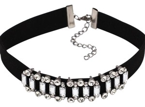 Black Crystal Stone Choker Necklace