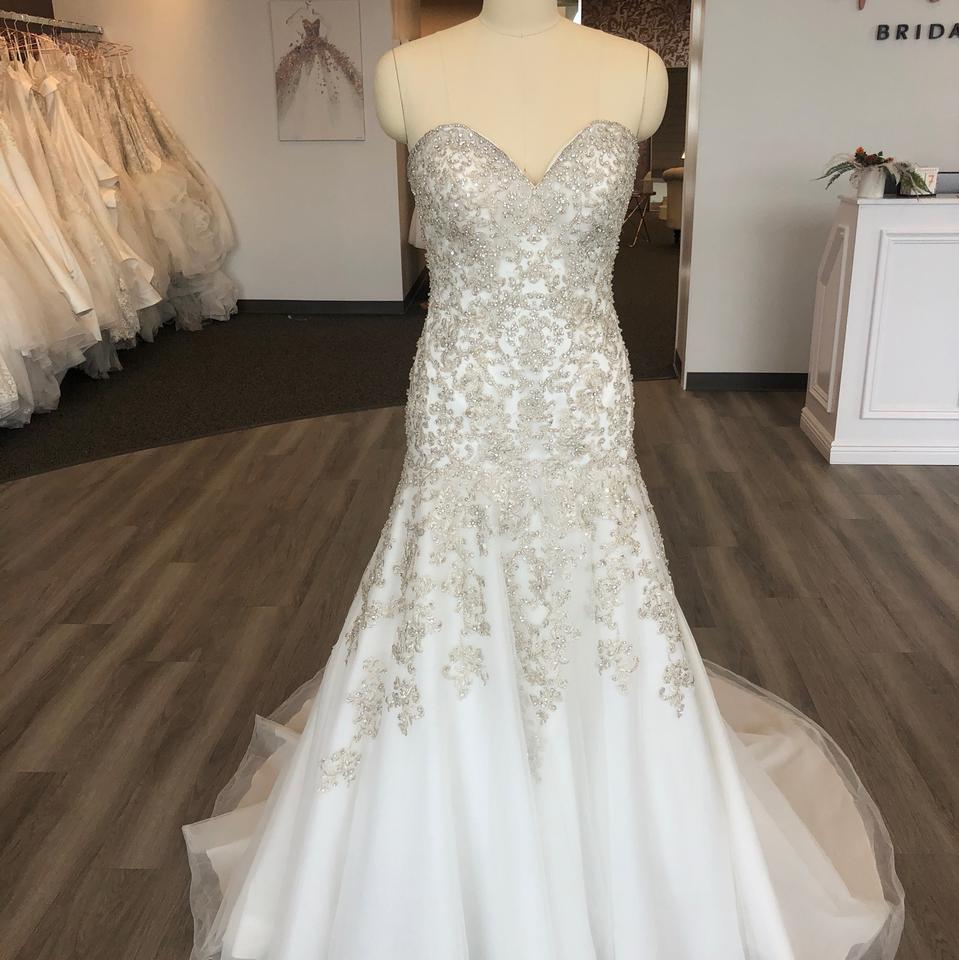 Jeweled Wedding Gowns: Allure Bridals Ivory/Silver Beaded Tulle C365 Formal