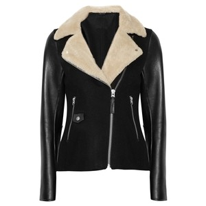 Mackage Shearling Leather Biker Fall Motorcycle Jacket