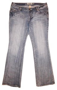 Mossimo Supply Co. Low Rise Stretch Boot Cut Jeans-Distressed