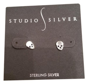 Macy's Skull Studs Sterling Silver Earrings