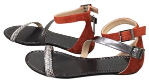 Jimmy Choo Black, Burnt orange and grey Sandals