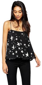 ASOS And Swing Top Black with white stars