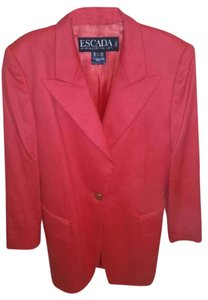 Escada Wool Jacket Red Blazer