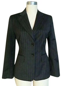 Banana Republic Pinstripe Two Button Grey Black Blazer