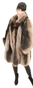 RACCOON FUR COAT Saga Mink Mink Fur Coat