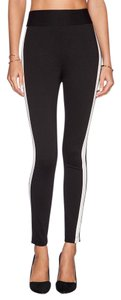 BCBGeneration High-waited Tuxedo black with white stripe Leggings