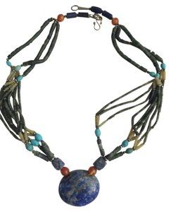 brand new real lapis stone necklace