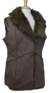 jeffrey banks Reversible Tweed Faux Fur Vest