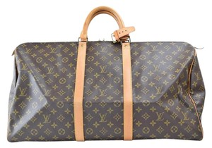 Louis Vuitton Keepall 55 Travel Monogram Canvas Travel Bag
