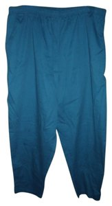 Cabin Creek Cerulean Plus Size Cotton Blend Deep Pockets Stretchy Waist Trouser Pants Blue