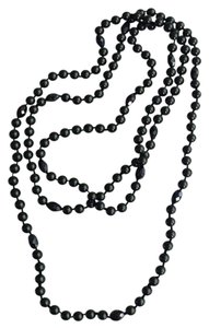 Other Classy beaded black pearls/ chalcedony/ necklace