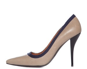 Lanvin Taupe & Navy Pumps
